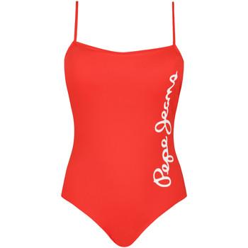 vaatteet Naiset Yksiosainen uimapuku Pepe jeans PLB10280 Punainen