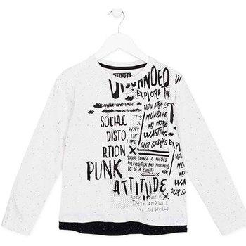 vaatteet Lapset T-paidat pitkillä hihoilla Losan 723 1005AA Valkoinen