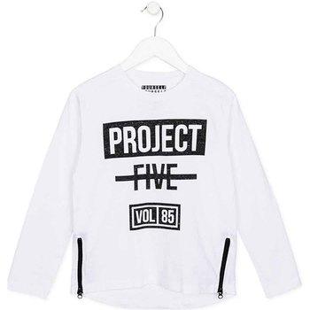 vaatteet Lapset T-paidat pitkillä hihoilla Losan 723 1010AA Valkoinen