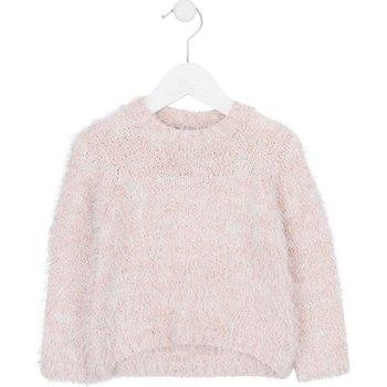 vaatteet Lapset Neulepusero Losan 726 5002AD Vaaleanpunainen