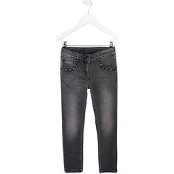 vaatteet Lapset Slim-farkut Losan 724 6034AB Harmaa