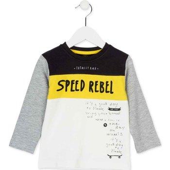 vaatteet Lapset T-paidat pitkillä hihoilla Losan 725 1018AC Valkoinen