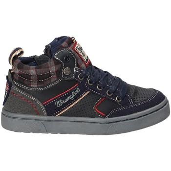 kengät Lapset Korkeavartiset tennarit Wrangler WJ17225B Sininen