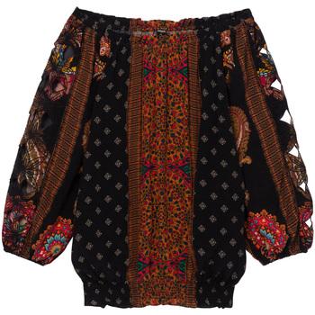 vaatteet Naiset Topit / Puserot Desigual 19WWBW23 Musta