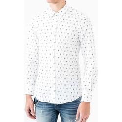 vaatteet Miehet Pitkähihainen paitapusero Antony Morato MMSL00425 FA430306 Valkoinen