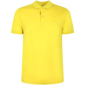 vaatteet Miehet Lyhythihainen poolopaita Calvin Klein Jeans K10K105182 Keltainen