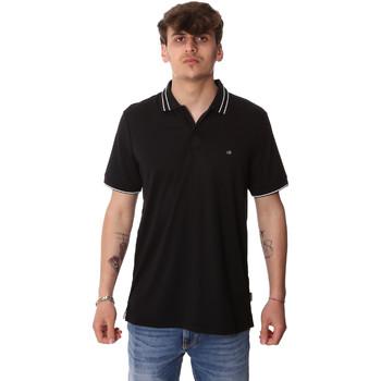 vaatteet Miehet Lyhythihainen poolopaita Calvin Klein Jeans K10K105183 Musta
