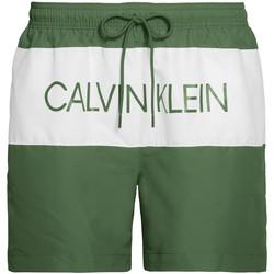vaatteet Miehet Uima-asut / Uimashortsit Calvin Klein Jeans KM0KM00456 Vihreä