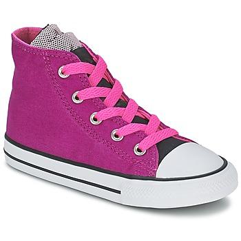 kengät Tytöt Korkeavartiset tennarit Converse ALL STAR PARTY HI Pink