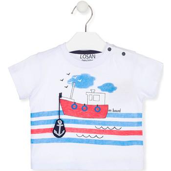 vaatteet Lapset Lyhythihainen t-paita Losan 017-1004AL Valkoinen