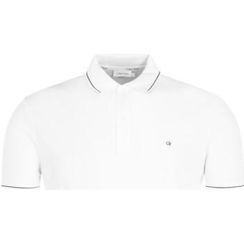 vaatteet Miehet Lyhythihainen poolopaita Calvin Klein Jeans K10K104918 Valkoinen