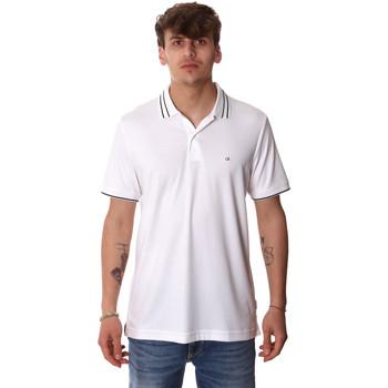 vaatteet Miehet Lyhythihainen poolopaita Calvin Klein Jeans K10K105183 Valkoinen