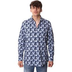 vaatteet Miehet Pitkähihainen paitapusero Calvin Klein Jeans K10K105400 Sininen