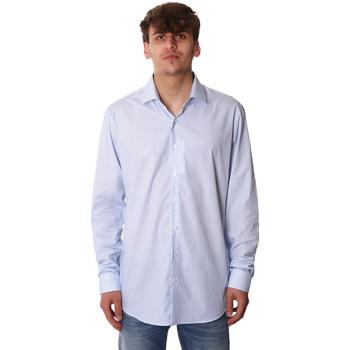 vaatteet Miehet Pitkähihainen paitapusero Calvin Klein Jeans K10K105402 Sininen