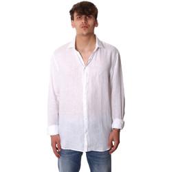 vaatteet Miehet Pitkähihainen paitapusero Calvin Klein Jeans K10K106018 Valkoinen