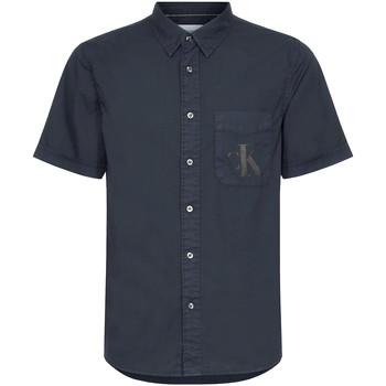 vaatteet Miehet Lyhythihainen paitapusero Calvin Klein Jeans J30J315223 Musta