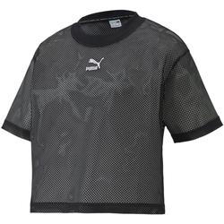 vaatteet Naiset Lyhythihainen t-paita Puma 598616 Musta