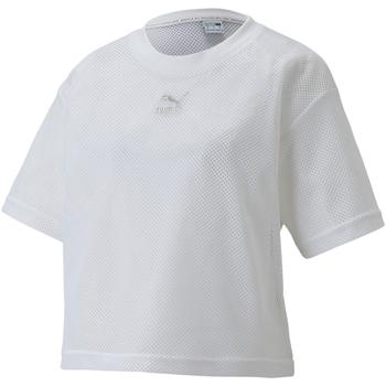 vaatteet Naiset Lyhythihainen t-paita Puma 598616 Valkoinen