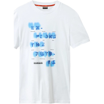 vaatteet Miehet Lyhythihainen t-paita Napapijri NP0A4E8G Valkoinen