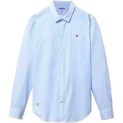 vaatteet Miehet Pitkähihainen paitapusero Napapijri NP0A4E2U Sininen