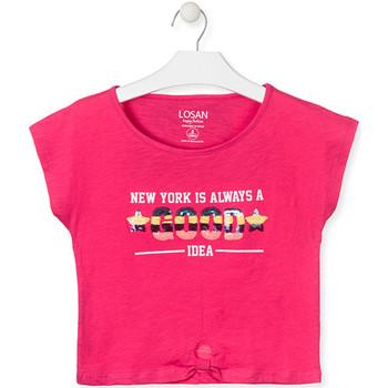 vaatteet Tytöt Lyhythihainen t-paita Losan 014-1025AL Vaaleanpunainen