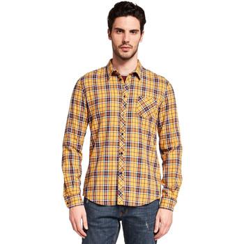 vaatteet Miehet Pitkähihainen paitapusero Gaudi 921BU45005 Keltainen