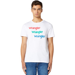 vaatteet Miehet Lyhythihainen t-paita Wrangler W7D7D3989 Valkoinen