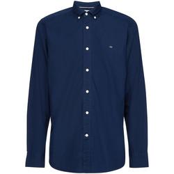 vaatteet Miehet Pitkähihainen paitapusero Calvin Klein Jeans K10K105284 Sininen