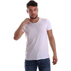 vaatteet Miehet Lyhythihainen t-paita Key Up 233SG 0001 Valkoinen