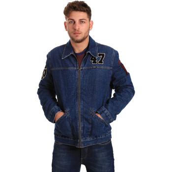 vaatteet Miehet Farkkutakki Wrangler W4580512L Sininen