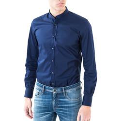 vaatteet Miehet Pitkähihainen paitapusero Antony Morato MMSL00376 FA450001 Sininen