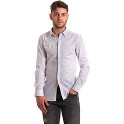 vaatteet Miehet Pitkähihainen paitapusero Antony Morato MMSL00428 FA430302 Valkoinen