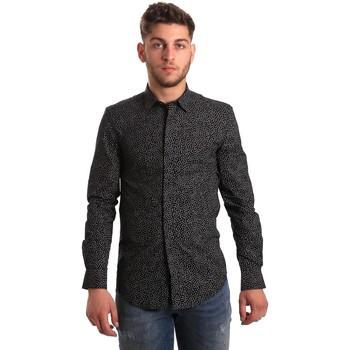 vaatteet Miehet Pitkähihainen paitapusero Antony Morato MMSL00428 FA430302 Musta