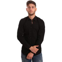 vaatteet Miehet Pitkähihainen paitapusero Antony Morato MMSL00472 FA450001 Musta