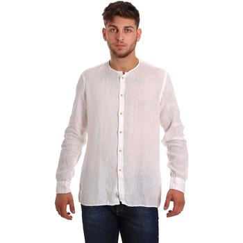 vaatteet Miehet Pitkähihainen paitapusero Gaudi 811BU45022 Valkoinen