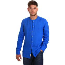 vaatteet Miehet Pitkähihainen paitapusero Gaudi 811BU45022 Sininen