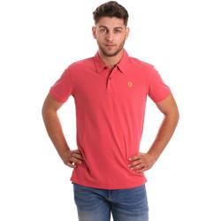 vaatteet Miehet Lyhythihainen poolopaita Gaudi 811BU64074 Vaaleanpunainen