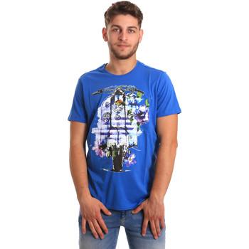 vaatteet Miehet Lyhythihainen t-paita Gaudi 811BU64154 Sininen