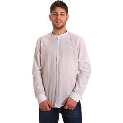 vaatteet Miehet Pitkähihainen paitapusero Gaudi 811FU45020 Valkoinen
