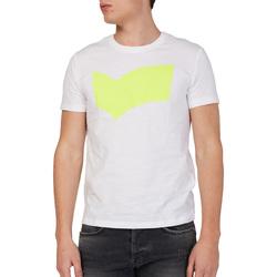 vaatteet Miehet Lyhythihainen t-paita Gas 542973 Valkoinen