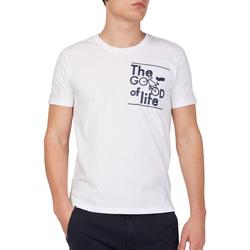 vaatteet Miehet Lyhythihainen t-paita Gas 542990 Valkoinen