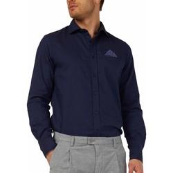 vaatteet Miehet Pitkähihainen paitapusero Gas 151131 Sininen