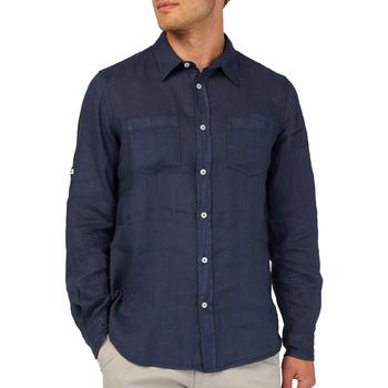 vaatteet Miehet Pitkähihainen paitapusero Gas 151150 Sininen