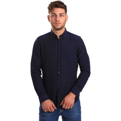vaatteet Miehet Pitkähihainen paitapusero Gas 151200 Sininen