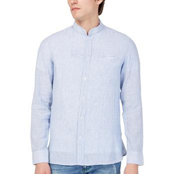 vaatteet Miehet Pitkähihainen paitapusero Gas 151228 Sininen
