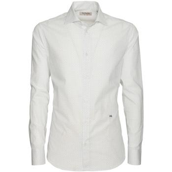 vaatteet Miehet Pitkähihainen paitapusero NeroGiardini P873051U Valkoinen