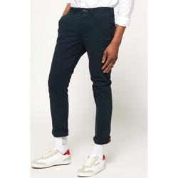 vaatteet Miehet Chino-housut / Porkkanahousut Superdry M70001TQF2 Sininen
