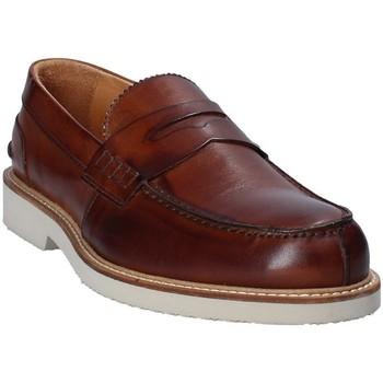 kengät Miehet Mokkasiinit Exton 9102 Ruskea