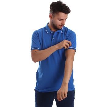 vaatteet Miehet Lyhythihainen poolopaita Key Up 2Q70G 0001 Sininen
