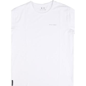 vaatteet Miehet Lyhythihainen t-paita Key Up 2G69S 0001 Valkoinen